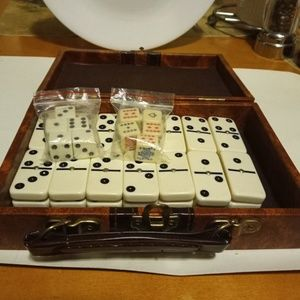 Other - Leather box domino set D6.